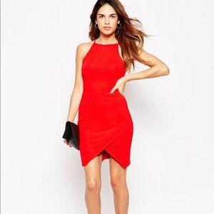 ASOS PETITE Asymmetric Dress High Neck